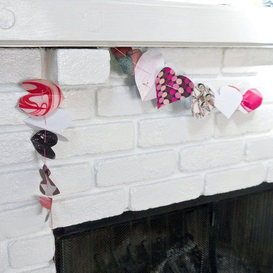 Pin for Later: 16 Adorable Heart DIYs You'll Fall in Love With Heart Garland Stringing this heart garland together is simple — and it will look great hanging over the mantel.