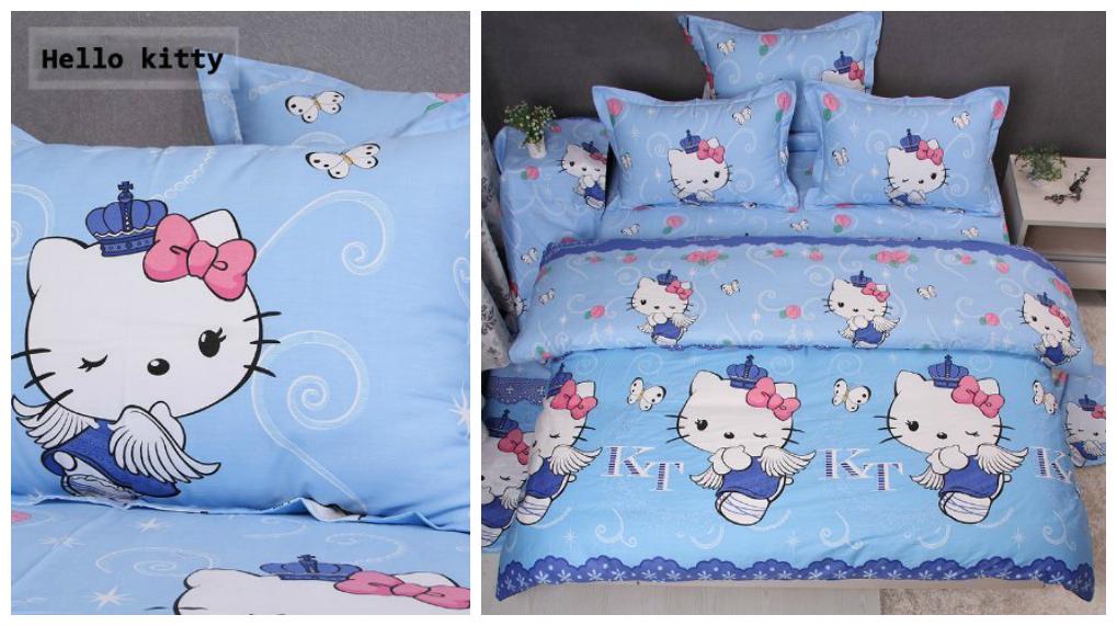 Blue Hello Kitty Bed Set Hello kitty bed, Hello kitty
