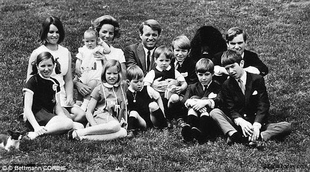 Bobby Kennedy And His Family His Last Child Was Born border=