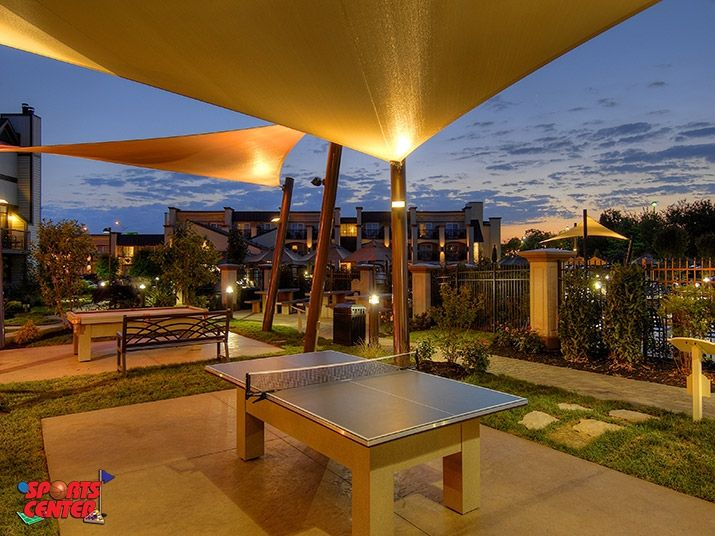 Lighted Outdoor Ping Pong Table