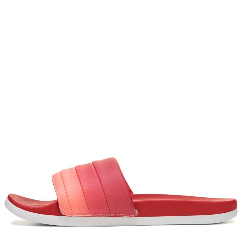3274b4bdb5b295 Adidas Women s Adilette Cloudfoam Slide Sandals (Scarlett White Coral)