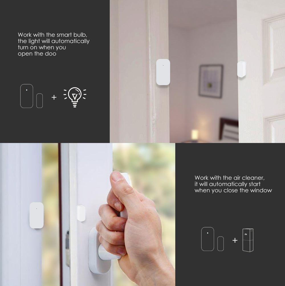 Aqara Door And Window Sensors Triggers The Lights On The Moment You Open The Door You Never Need To Worry About Opening Lights In D Smart Bulb Windows Sensor
