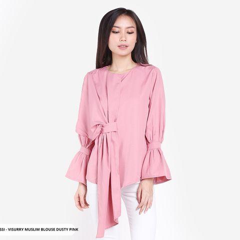 16188a9c4 Visurry Plain Casual Muslim Blouse | Sorabel.com | Baju Lebaran 2019 in  2019 | Blouse, Tunic tops, Casual