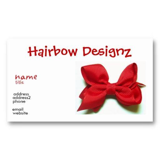 Hair bow business card business cards for kids pinterest hair bow business card colourmoves