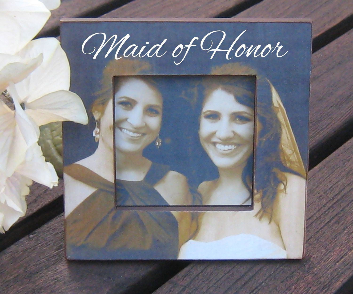 Personalized Maid Of Honor Picture Frame, Custom Wedding
