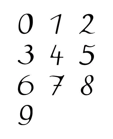 Speakeasy Font Number 数字 タイポグラフィ レタリング テキストデザイン