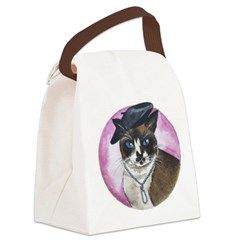 Take your lunch to work or school with this canvas lunch bag featuring Josie, a French feline who loves berets and everything Paris. By http://margotdear.squarespace.com/