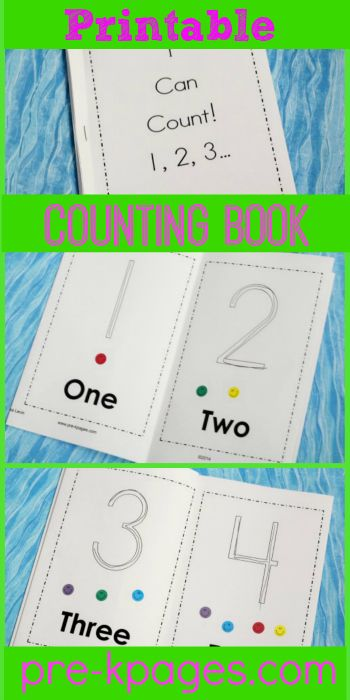 Printable 1-10 Sticker Counting Book (free; from Pre-K Pages)