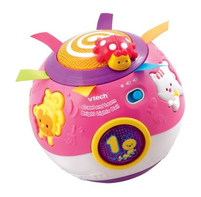 Vtech Crawl and Learn Bright Lights Ball 47353 Interactive magically moving ball? catch it if you can!Built-in motor activates to make the ball roll around, promoting crawling. Limited controlled movement means that the ball stops within reach.Pre http://www.comparestoreprices.co.uk/childs-toys/vtech-crawl-and-learn-bright-lights-ball-47353.asp