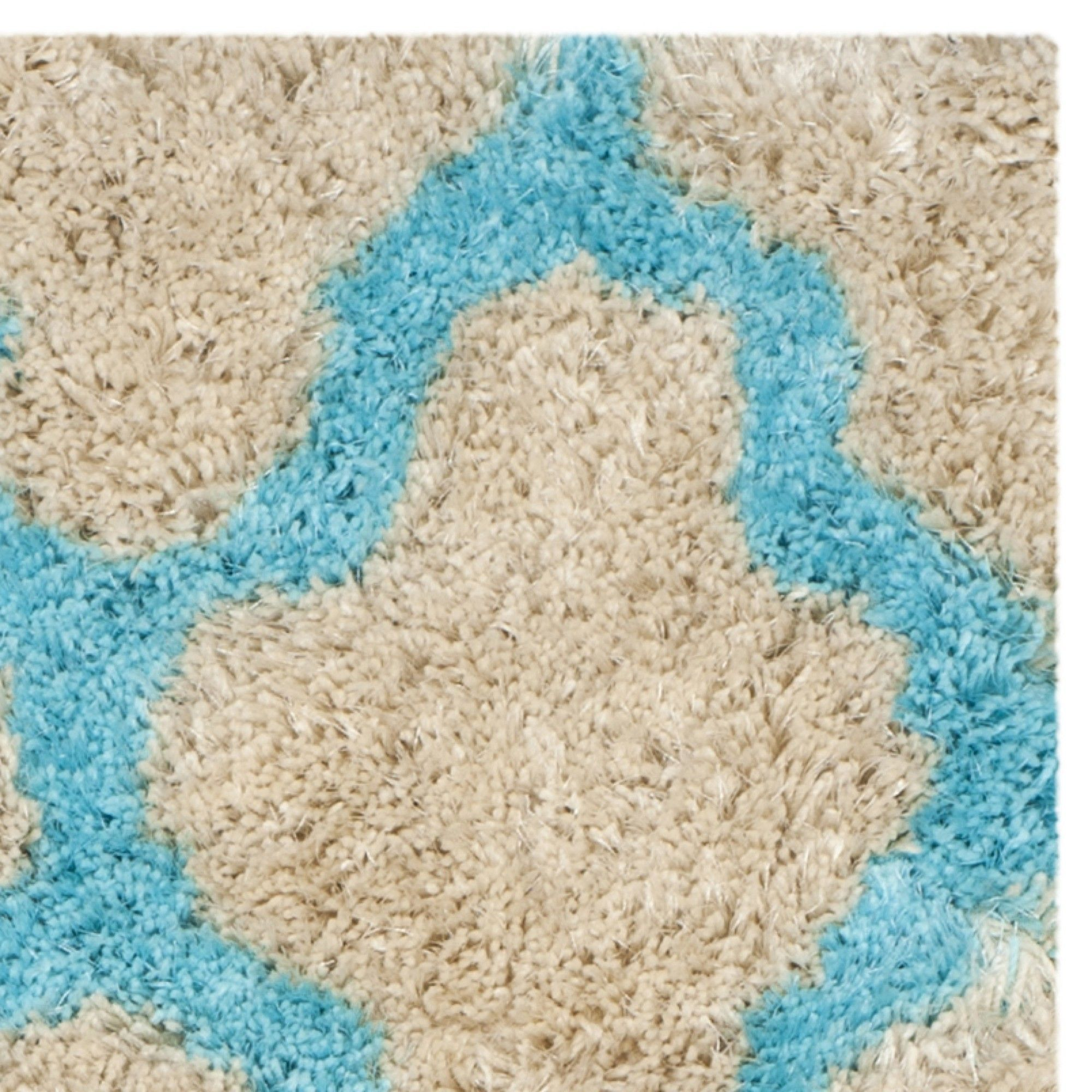 Barcelona Cream/Blue Area Rug
