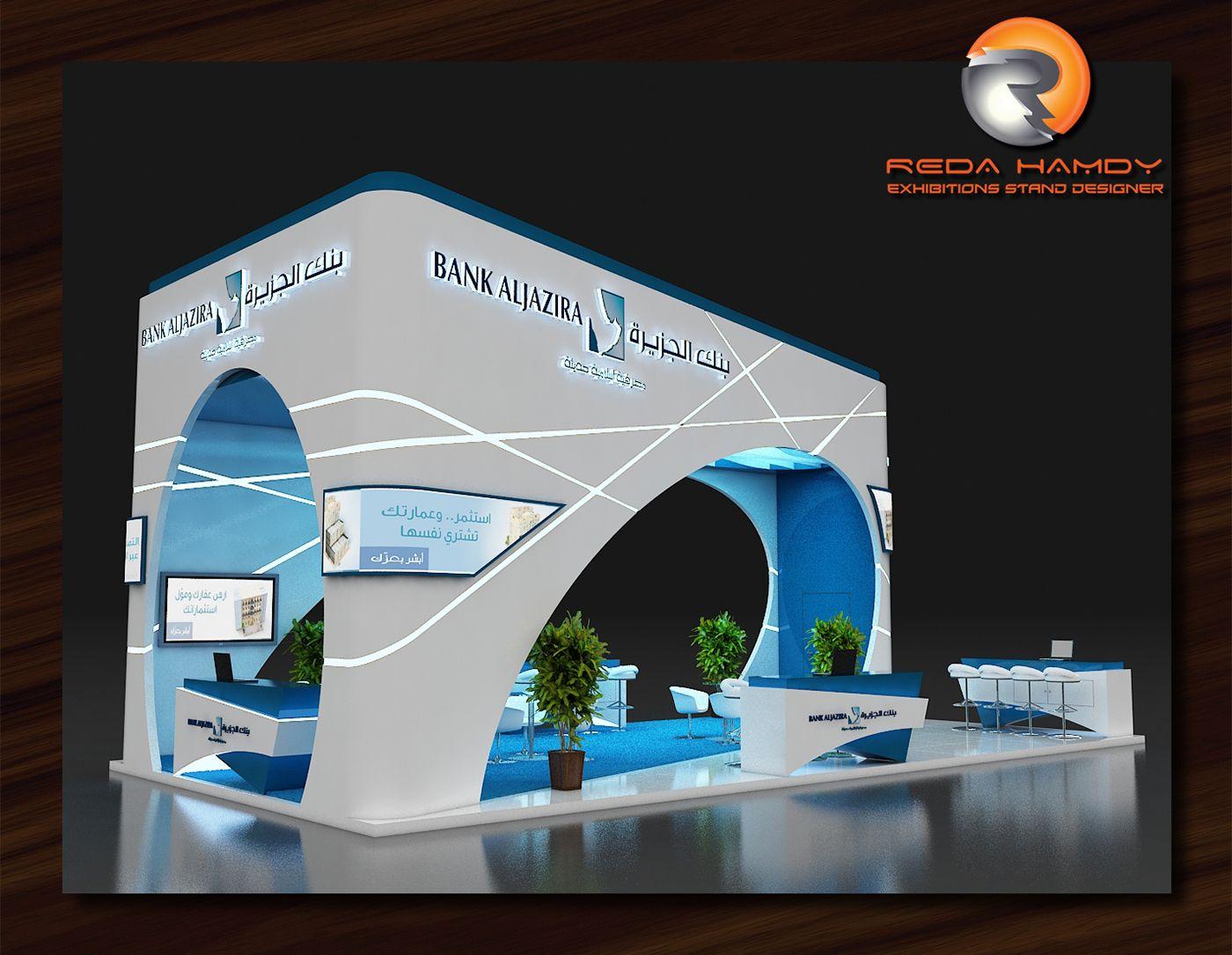 Bank Aljazira On Behance Exhibition Booth Design Booth Design Exhibition Booth