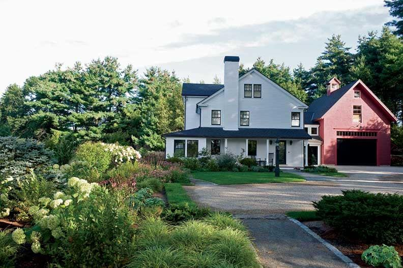 A Farm Reinvented Farmhouse landscaping, New england