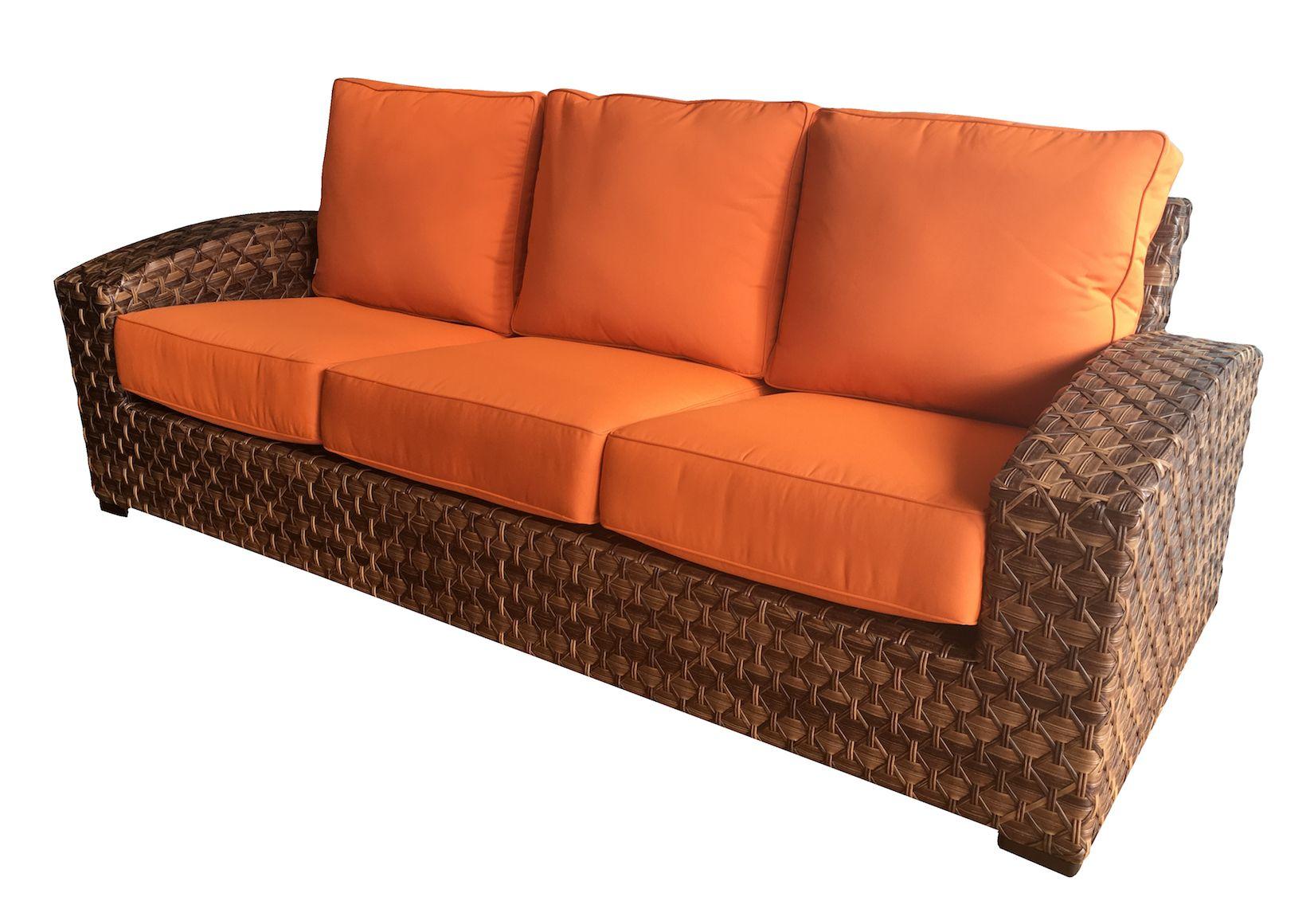 Westbury Outdoor Wicker Sofa Wicker Sofa Outdoor Sunbrella