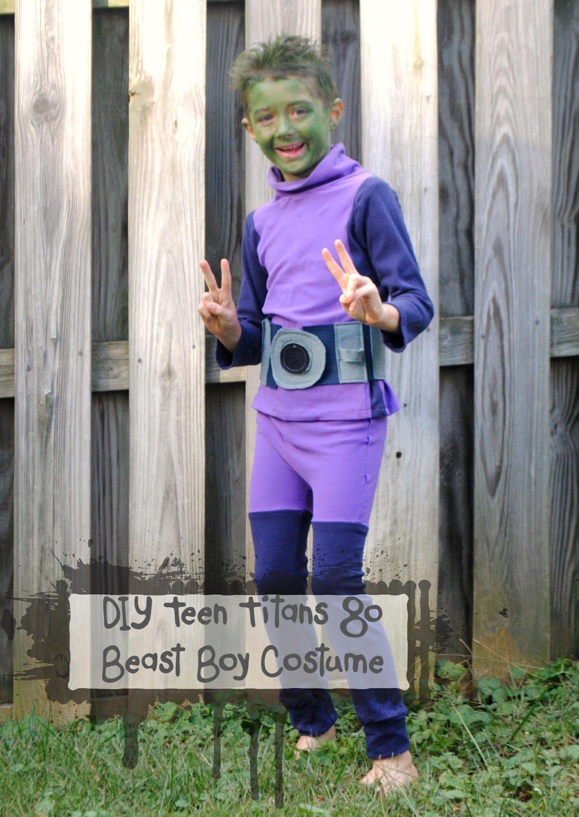 teen titans go- diy beast boy costume | halloween in 2018