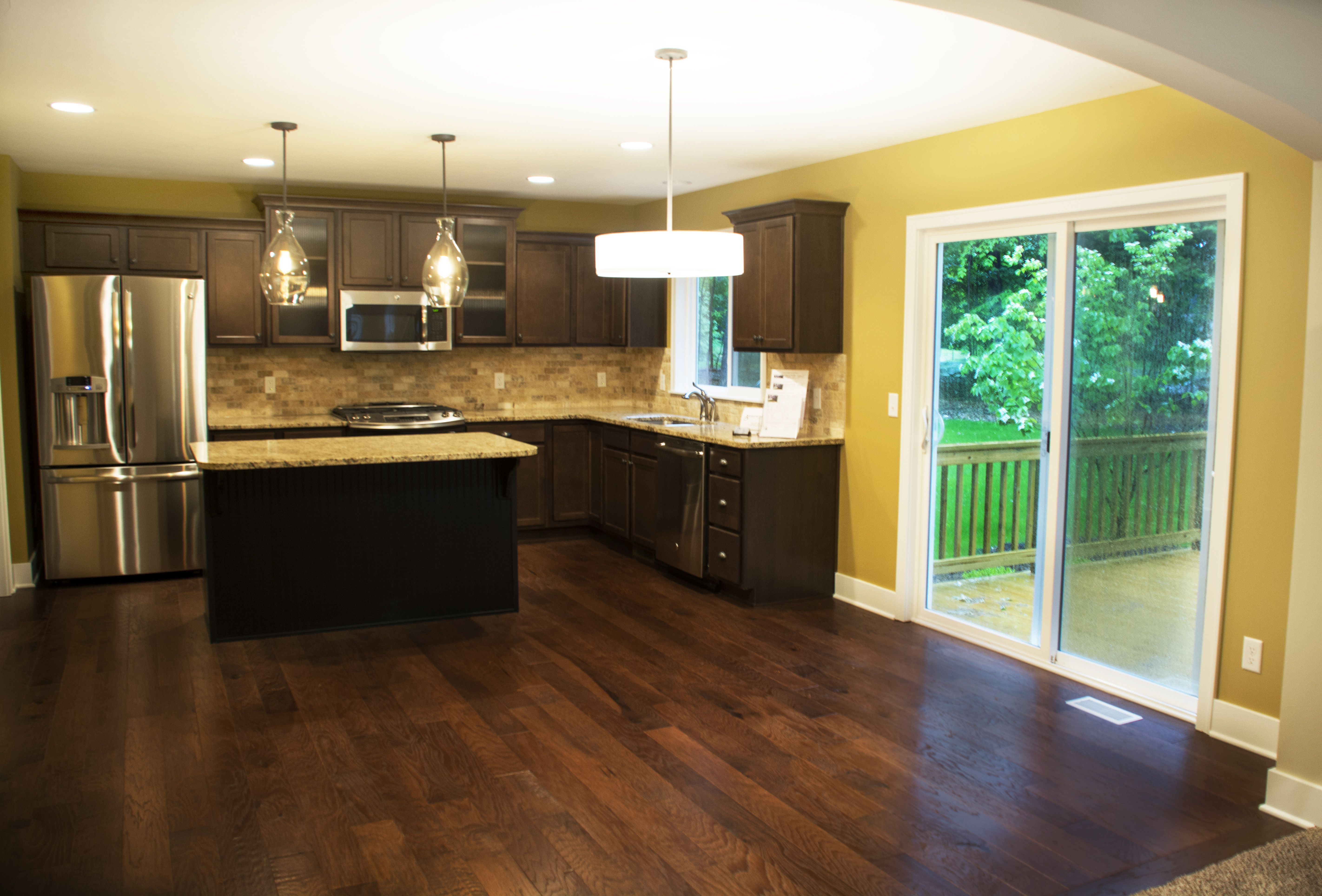 Beautiful #woodfloors, granite countertops, and sliding ...