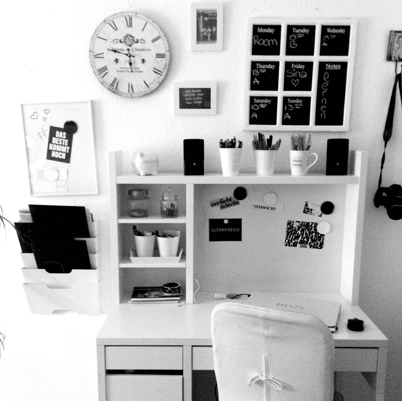 Arbeitsplatz, Schreibtische, Aufgeräumtes Zimmer, Platz Auf Dem  Schreibtisch, Weißes Schlafzimmer, Zimmerdekoration, Büro Design, Ikea  Schreibtisch Weiß, ...