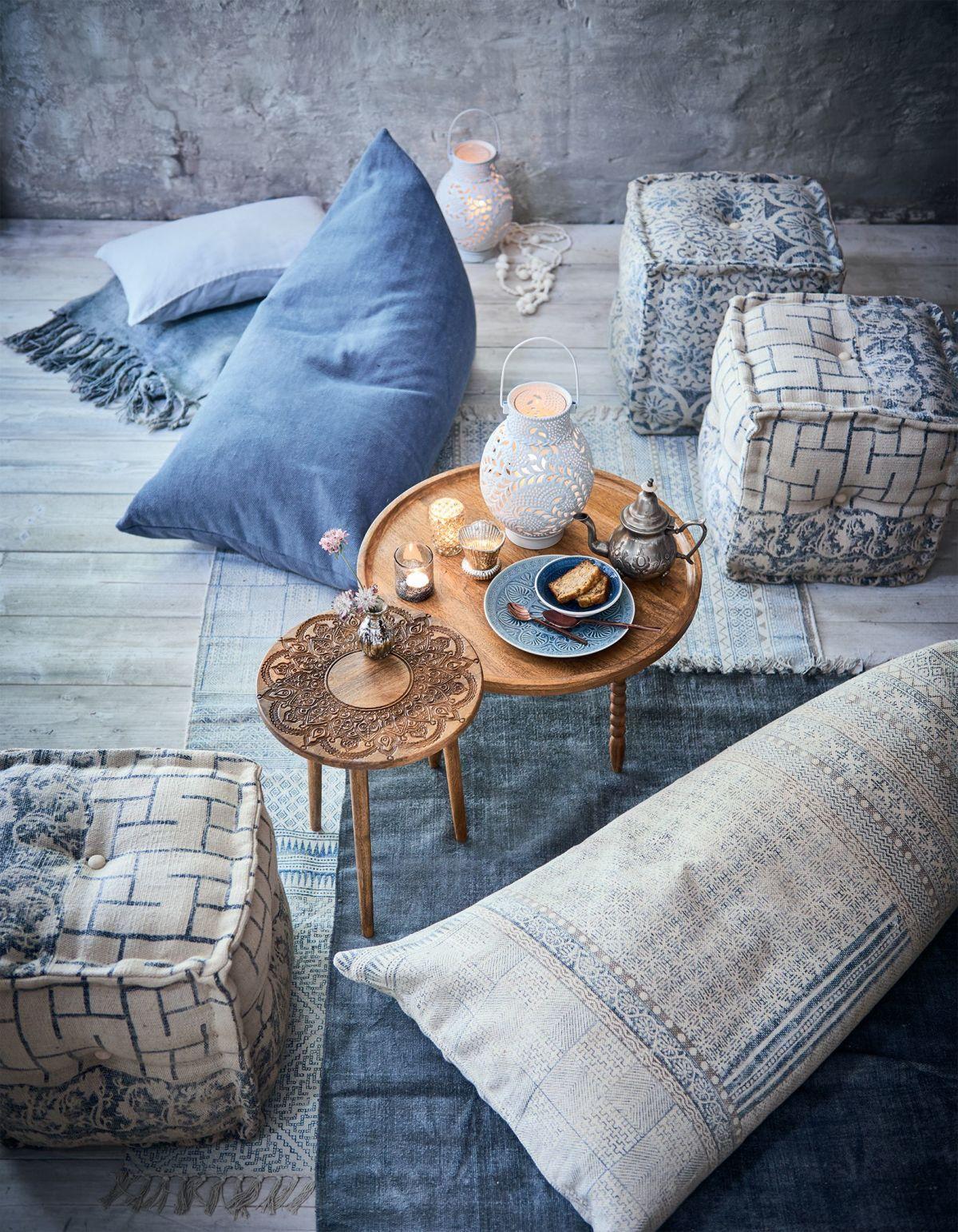 Sitzsack Robuster Baumwollbezug Orientalischer Look 100 Baumwolle Styropor Jetzt Bestellen Unter Http Www Woonio De P Decoracao Almofadas Azul E Branco