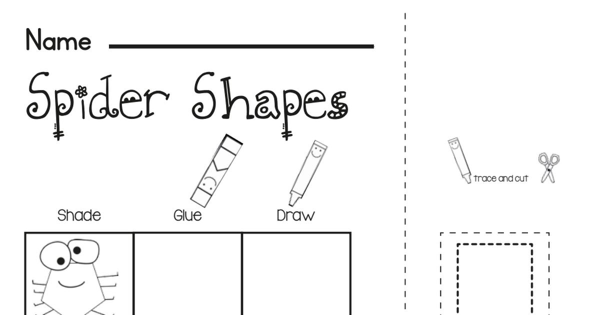 Freebie Spider Shapes Worksheet Pdf Worksheets Shapes Worksheets Spelling Worksheets
