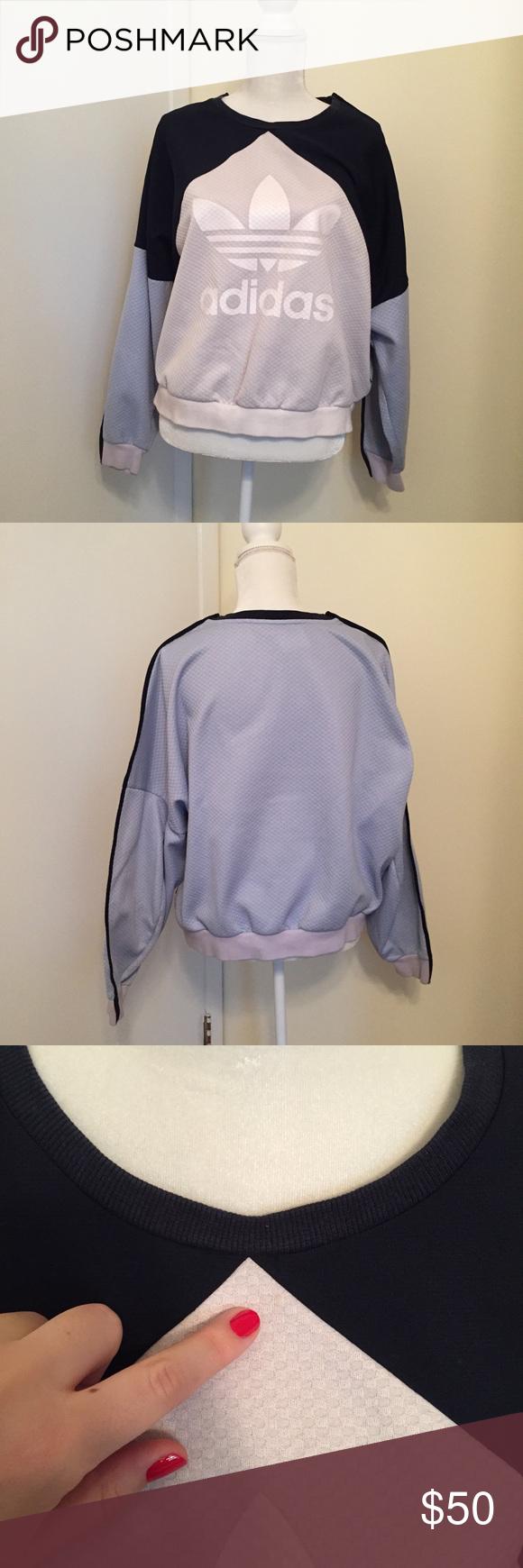 Adidas Sweatshirt Light Blue Navy Gray Adidas Sweatshirt Sweatshirts Clothes Design [ 1740 x 580 Pixel ]