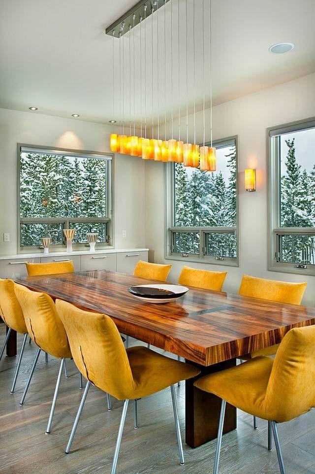 Salle A Manger Jaune Des Exemples Tres Chaleureux Living Spaces