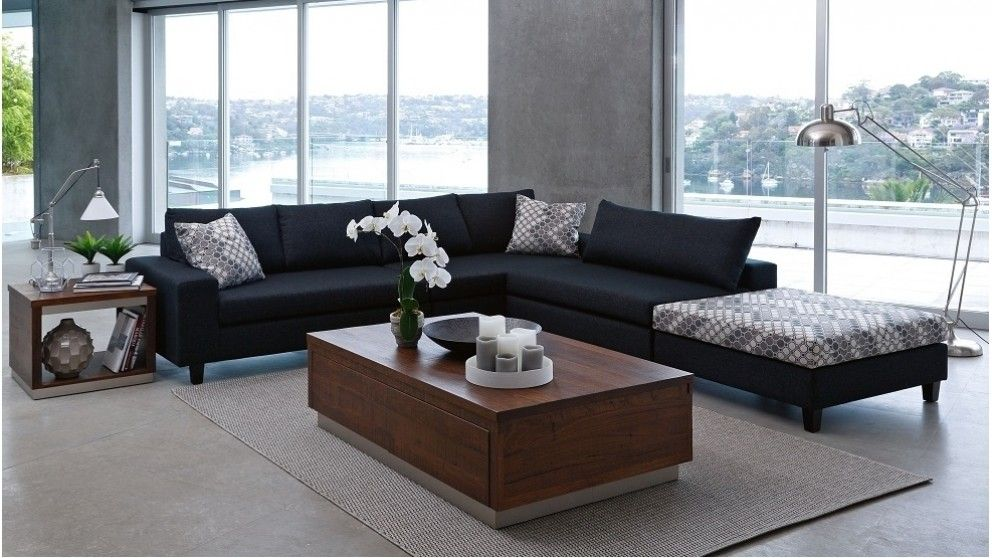 Nest Fabric Corner Modular Lounge with Ottoman - Lounges - Living ...