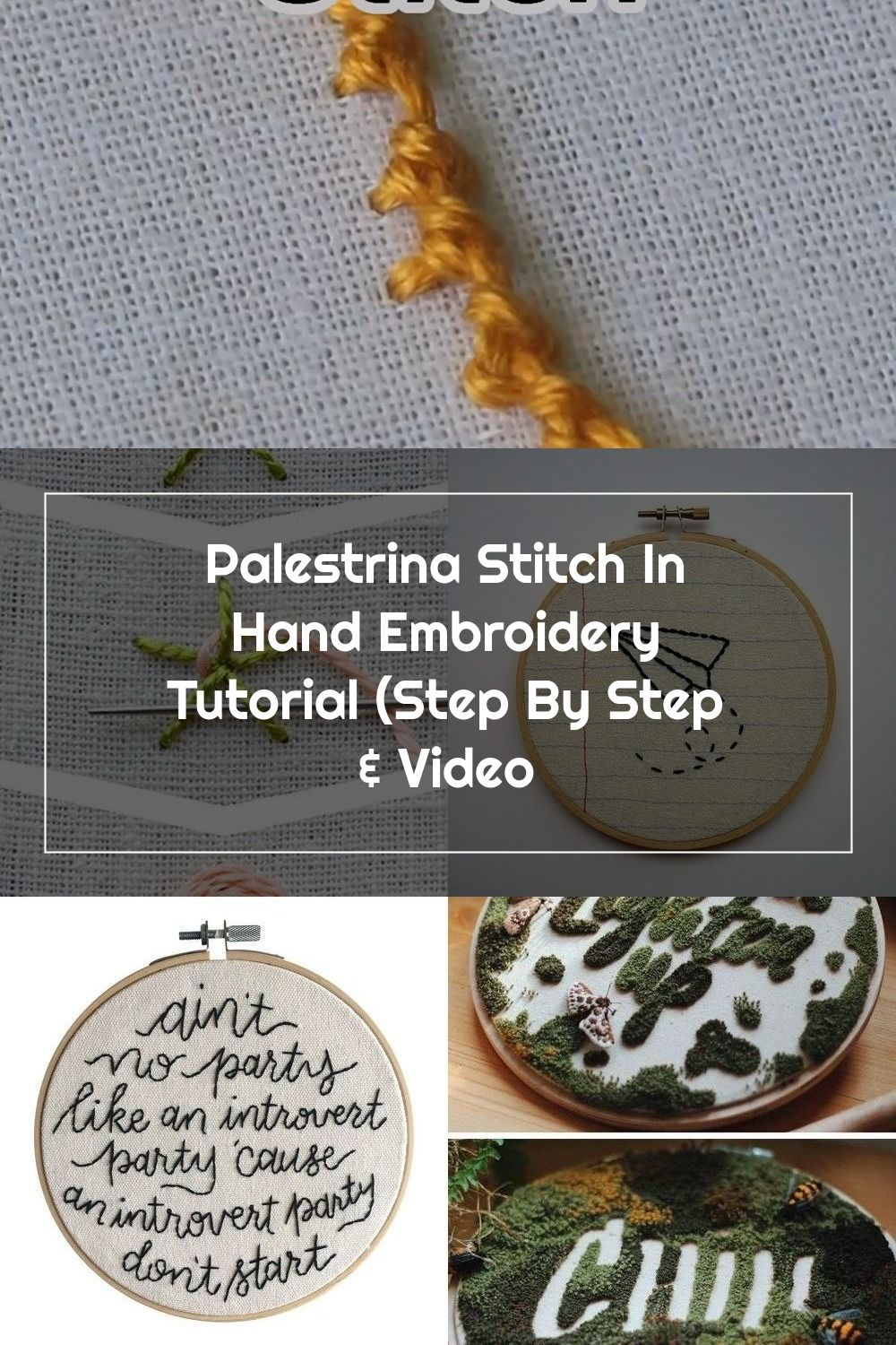 Learn how to work a palestrina stitch in #embroidery #handembroidery #embroiderystitches