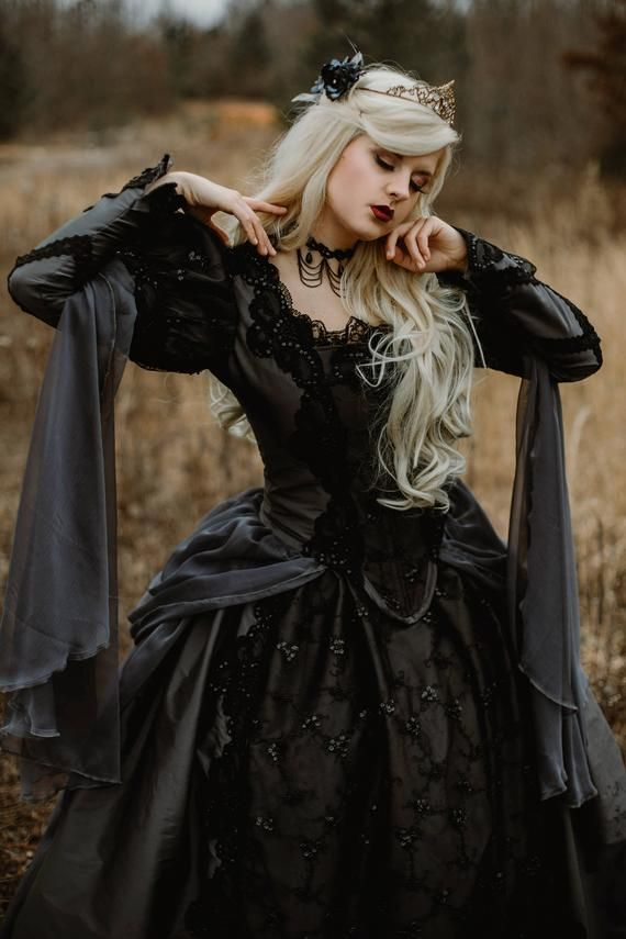 Gothic Princess Wedding or Costume Deluxe Elizabethan Fantasy Gown Custom  Color and Size 1fd663e62d8d