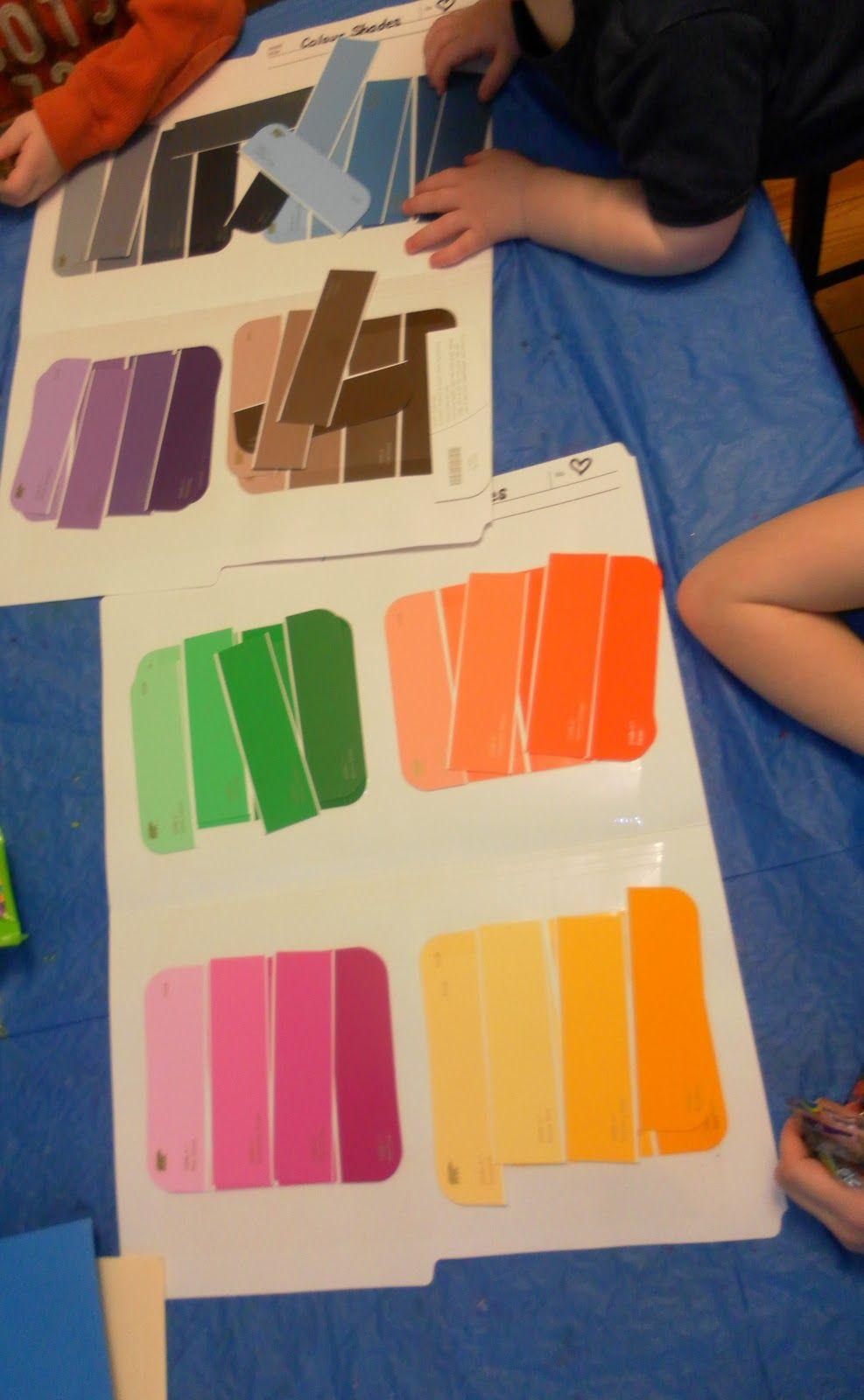 Paint Swatch Color Match Fun Projects Pinterest Preschool