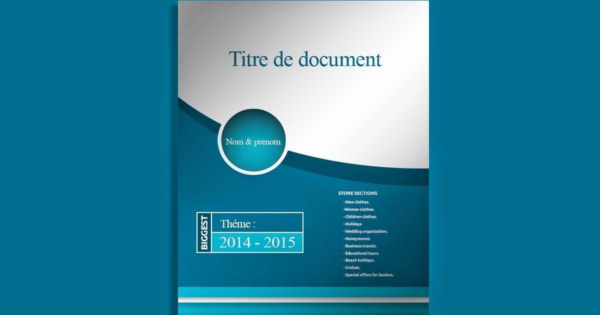 Page De Garde Rapport De Stage Page De Garde Page De Garde