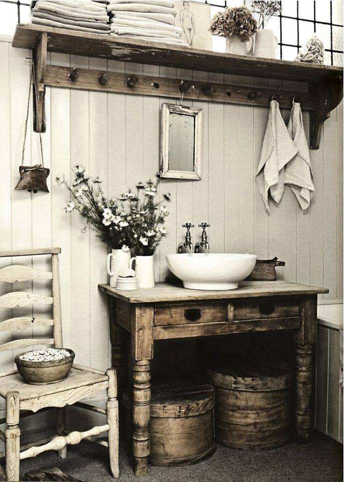 l\'effet bois :p | Bathroom | Décoration petite salle de bain ...