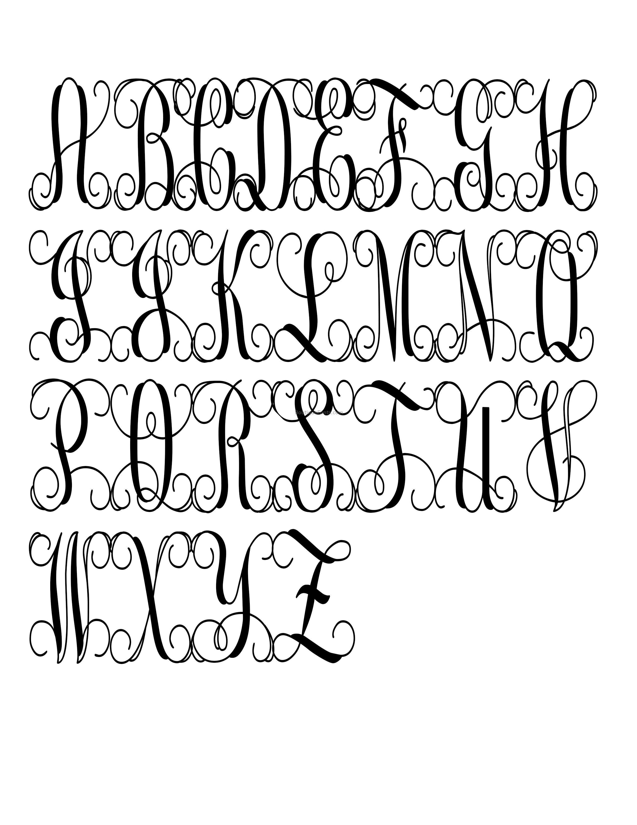 Svg Fonts Interlocking Vine Monogram Svg Font