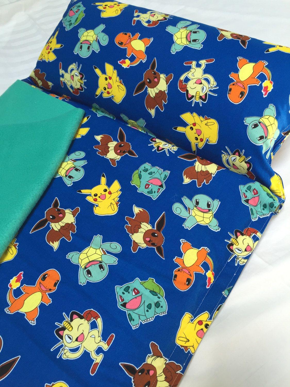 pillow and blanket pokemon nap mat