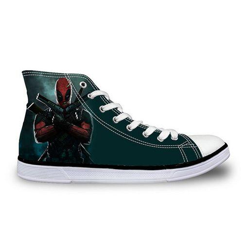 ab908498f44e2c Men s Vulcanized Shoes Cool Super Hero Deadpool Sneakers - mens vulcanized  shoes cool super hero deadpool