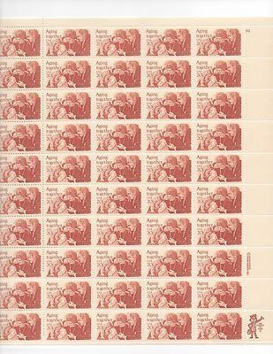 Aging Together Sheet of 50 x 20 Cent US Postage Stamps NEW Scot 2011 . $26.99. Aging Together Sheet of 50 x 20 Cent US Postage Stamps NEW Scot 2011