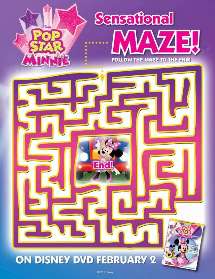Free Printable Disney Minnie Mouse Maze | Printable Coloring Pages ...
