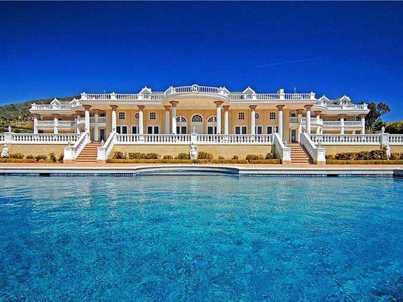 This gaudy malibu mansion boasts sea views acres of tile for Malibu mansions for rent