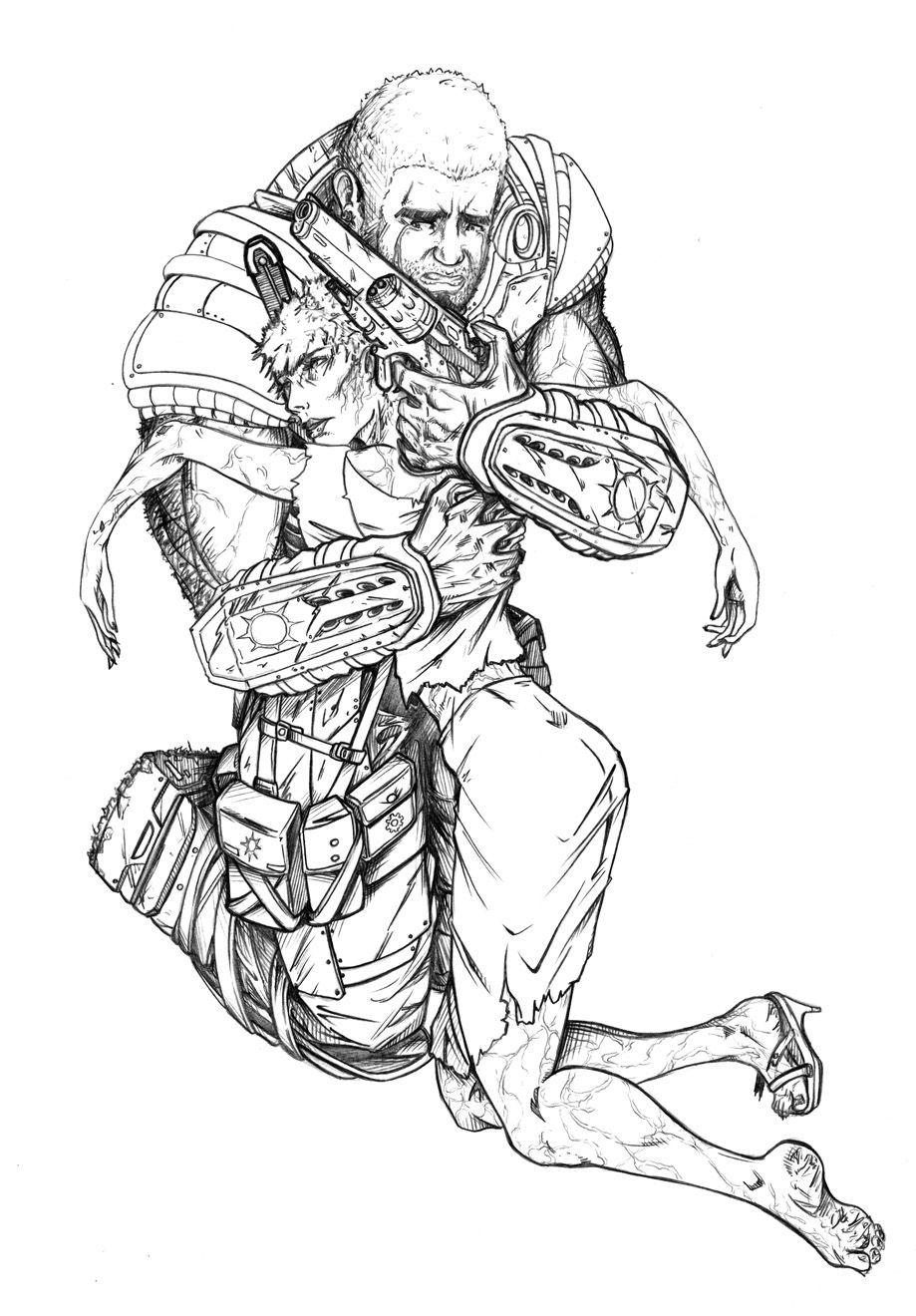Erik Teren Mullins Is Creating Cartoon Comic Anime Manga Pinup Patreon Gears Of War Anime War Fan
