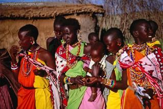 Masai women in Masai Mara National Reserve, Rift Valley