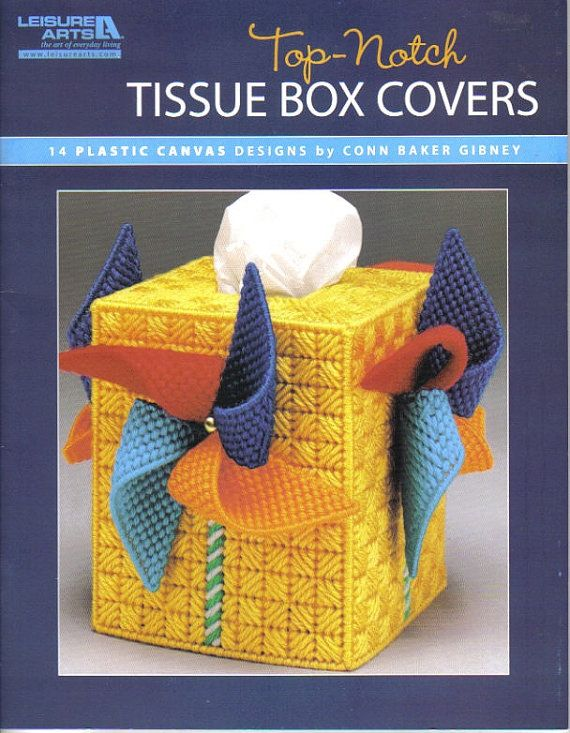 Top-Notch Tissue Box Covers  ~  plastic canvas book