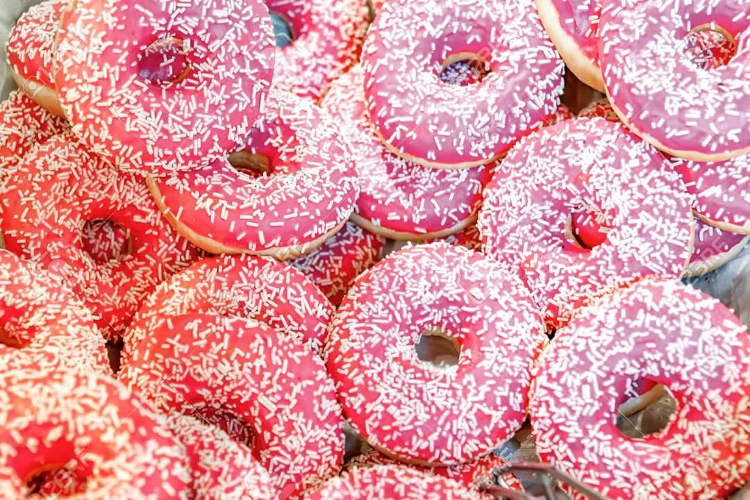 Hmmm donuts... 🍩 I love all kinds of donut, but personally, these pink ones are by far my favorite!...