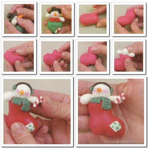 HOW TO PART N°2 porcelana fria Pinterest Manualidades para - manualidades para navidad