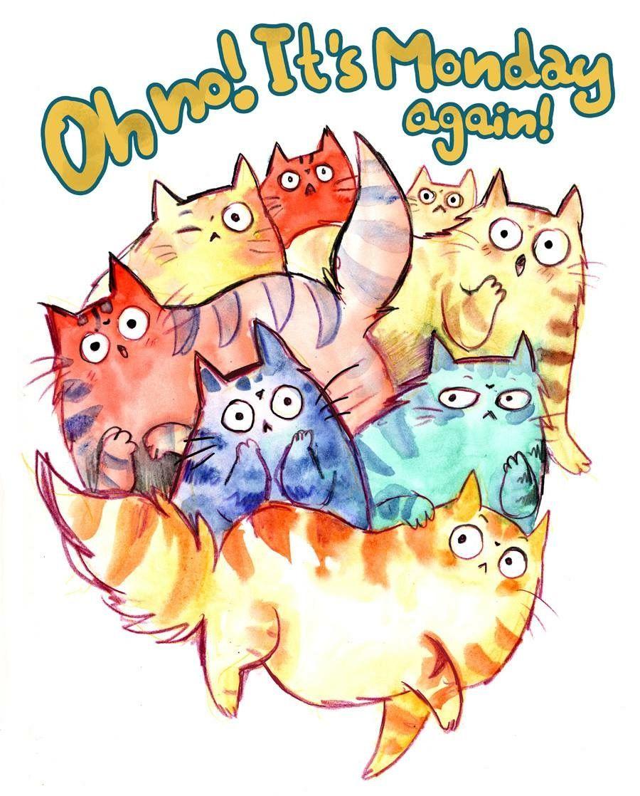 Pin by Janina Sigrest on Cats Cat art, Manic monday, Art