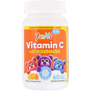 Yumv S Vitamin C With Echinacea Orange Flavor 60 Jelly Bears Bears Echinacea Flavor Jelly Orange Vitamin Yumvs