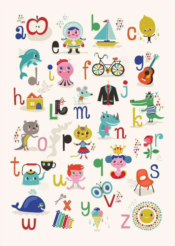 affiche poster alphabet abc ab c daire helen dardik scandinave anglais 50 x 70 jeux enfants. Black Bedroom Furniture Sets. Home Design Ideas