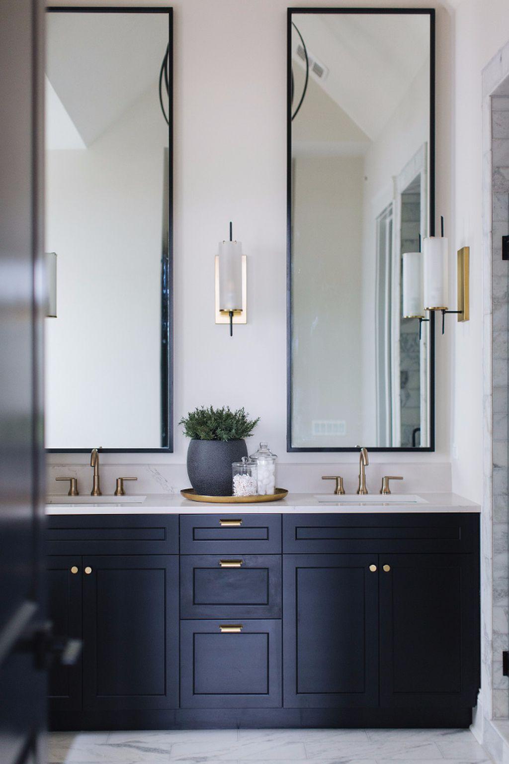 49 Fancy Bathroom Mirror Ideas For Your Bathroom Cluedecor