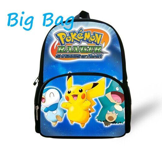 New Sale 12 inch Cartoon Prints Pokemon Backpack Kids Small Baby ...