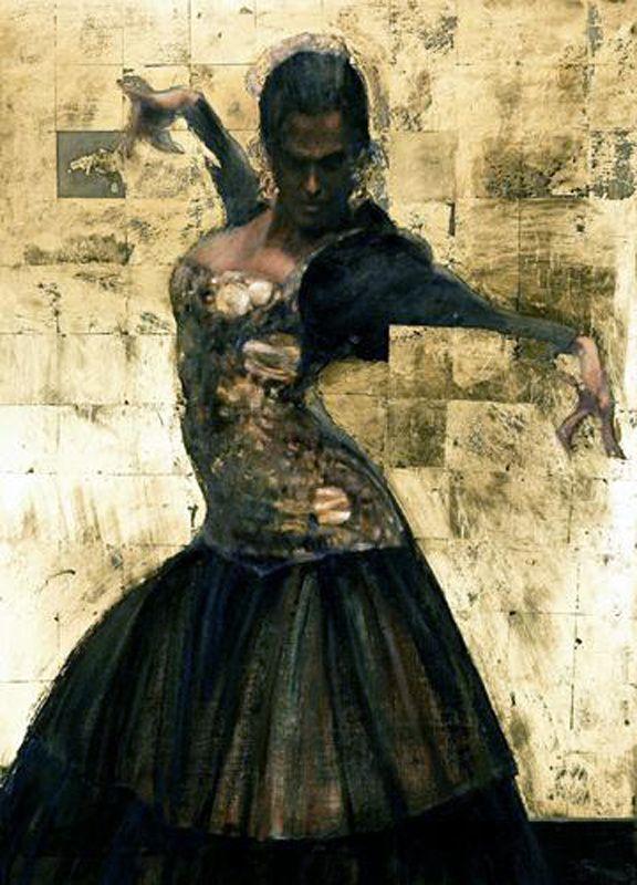 Flamenco Goldu0027u0027 1998 Peinture finie après une série du0027études