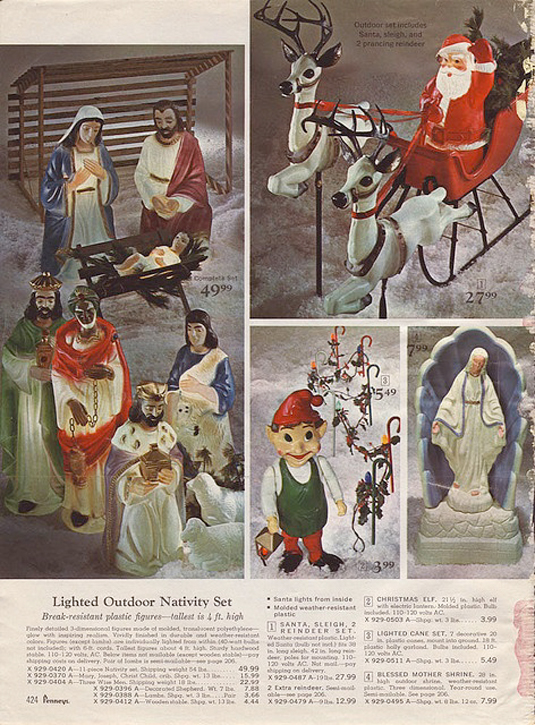 penny candy: Christmas Decorations & Ornaments from Vintage Catalogs