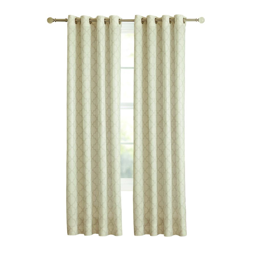 Allen + Roth Selwick 95 In Neutral Polyester Grommet Light Filtering Single  Curtain Panel 1627352