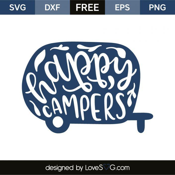 Happy Camper SVG Cut File Creativework247 Camping